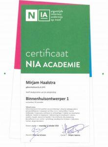 Vakopleiding Binnenhuisontwerp NIA Academie Amsterdam